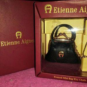Etienne Aigner Framed Mini Bag Key Chain